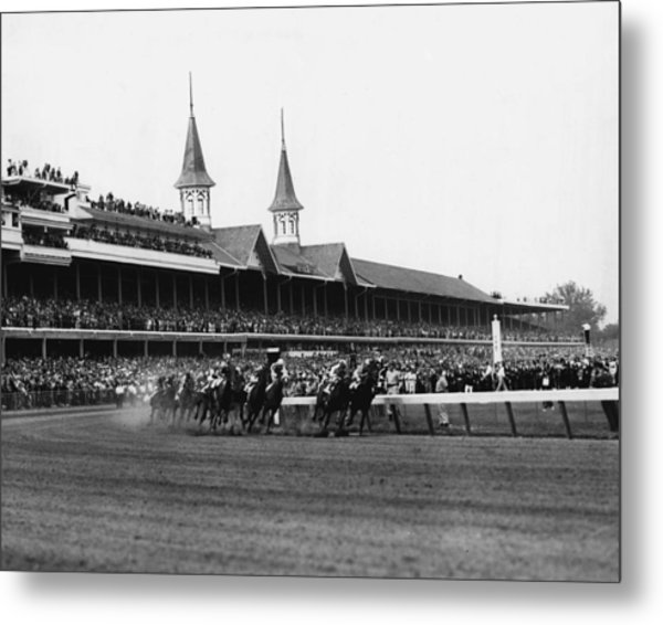 1960 Kentucky Derby Horse Racing Vintage Metal Print