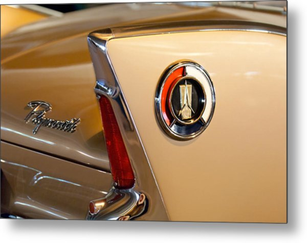 1960 Plymouth Fury Convertible Taillight And Emblem Metal Print