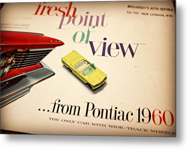 1960 Pontiac Matchbox Cover Car Metal Print