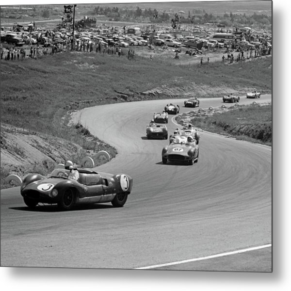 1960s Auto Race On Serpentine Section Metal Print