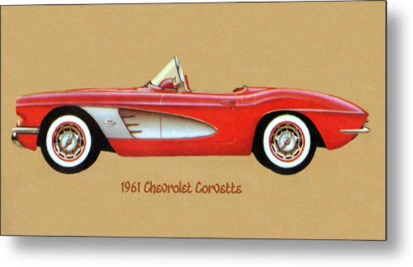 1961 Chevrolet Corvette Metal Print
