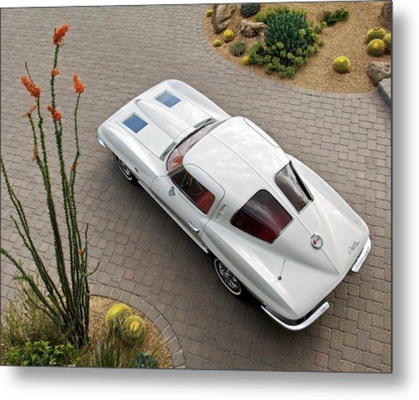 Metal Print featuring the photograph 1963 Chevrolet Corvette Split Window -440c by Jill Reger