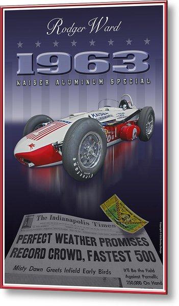 1963 Kaiser Aluminum Roadster Metal Print