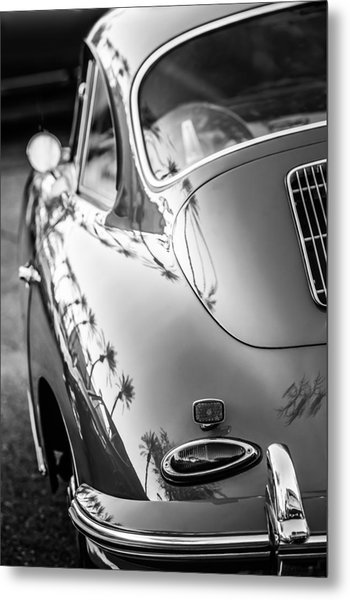 Metal Print featuring the photograph 1963 Porsche 356b S Coupe Taillight -1241bw by Jill Reger