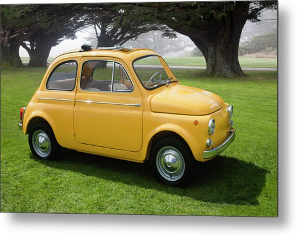 1964 Fiat 500d Metal Print by Car Culture