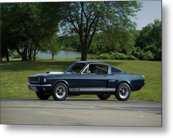 Metal Print featuring the photograph 1965 Ford Mustang Fastback by Tim McCullough