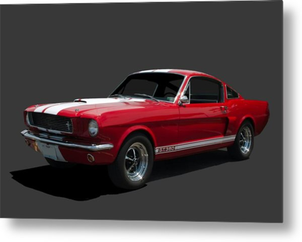 Metal Print featuring the photograph 1966 Mustang Fastback Gt 350 by Tim McCullough