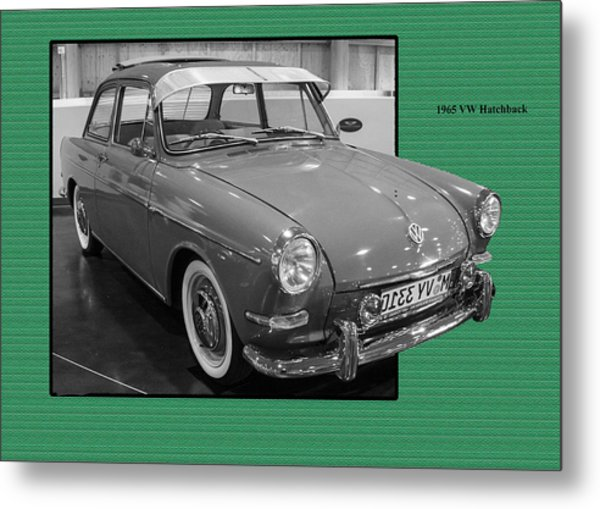 1965 Vw Notchback Metal Print