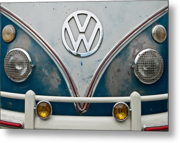 1965 Vw Volkswagen Bus Metal Print