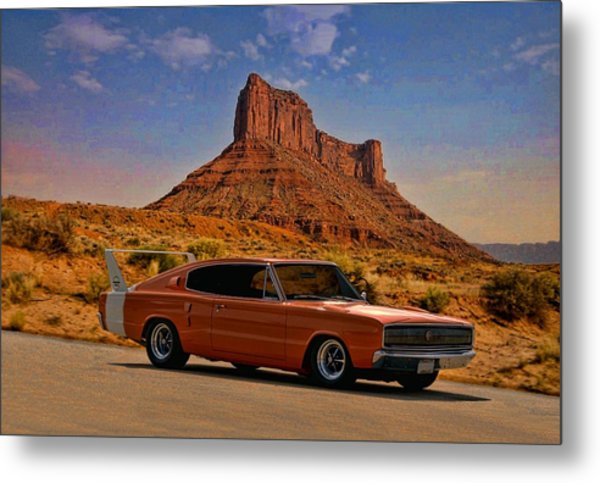 1966 Dodge Charger 500 Metal Print