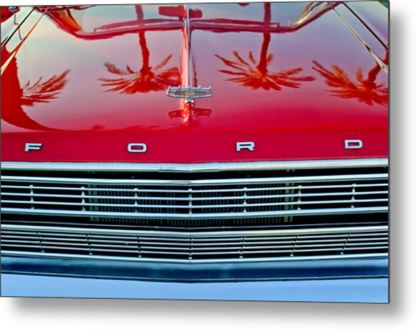 1966 Ford Galaxie 500 Convertible Grille Metal Print