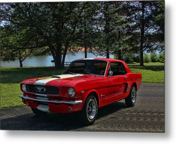 Metal Print featuring the photograph 1966 Ford Mustang by Tim McCullough