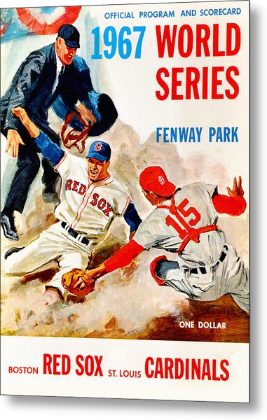 1967 World Series Program Metal Print