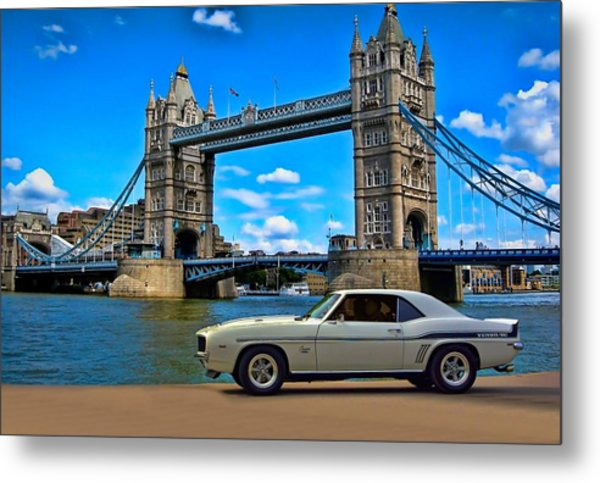 Metal Print featuring the photograph 1969 Camaro Yenko Sc by Tim McCullough
