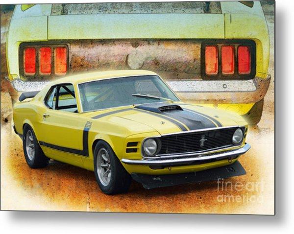 1970 Boss 302 Mustang Metal Print