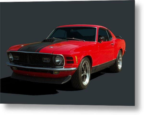Metal Print featuring the photograph 1970 Mustang Mach 1 by Tim McCullough