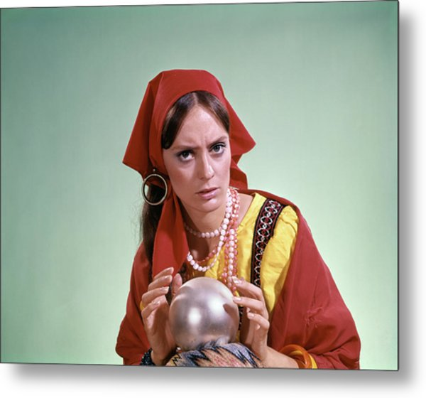 1970s Psychic Crystal Ball Fortune Metal Print