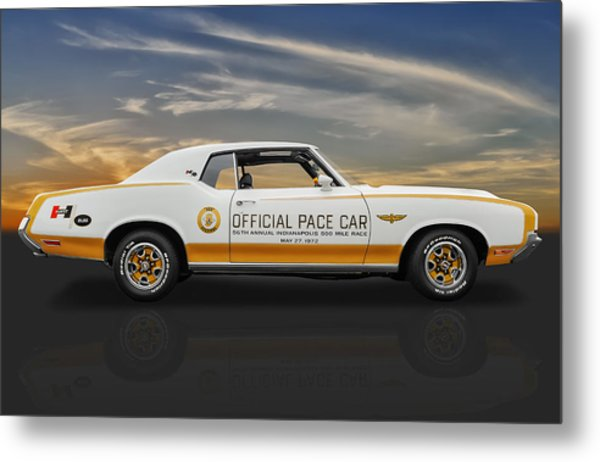 1972 Hurst Olds Pace Car Metal Print