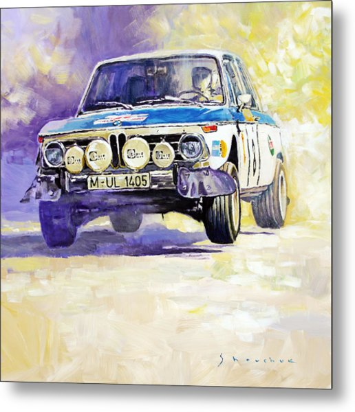 1973 Rallye Of Portugal Bmw 2002 Warmbold Davenport Metal Print