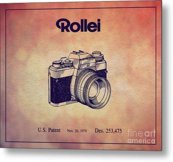 1979 Rollei Camera Patent Art 1 Metal Print