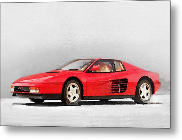 1983 Ferrari 512 Testarossa Metal Print