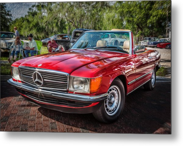 1984 Mercedes 500 Sl Painted  Metal Print