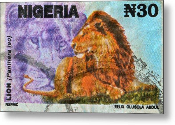 1993 Nigerian Lion Stamp Metal Print