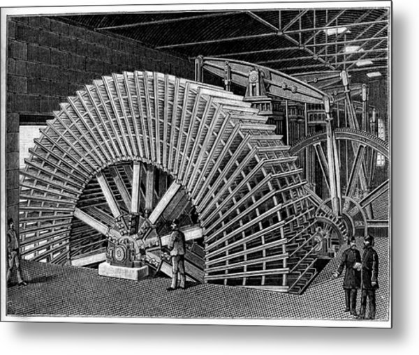 19th C Egyptian Hydraulic Factory Metal Print by Collection Abecasis/science Photo Library