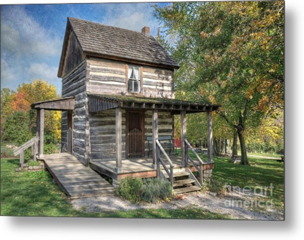 19th Century Cabin Metal Print