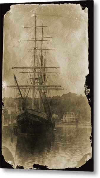 19th Century Schooner Metal Print