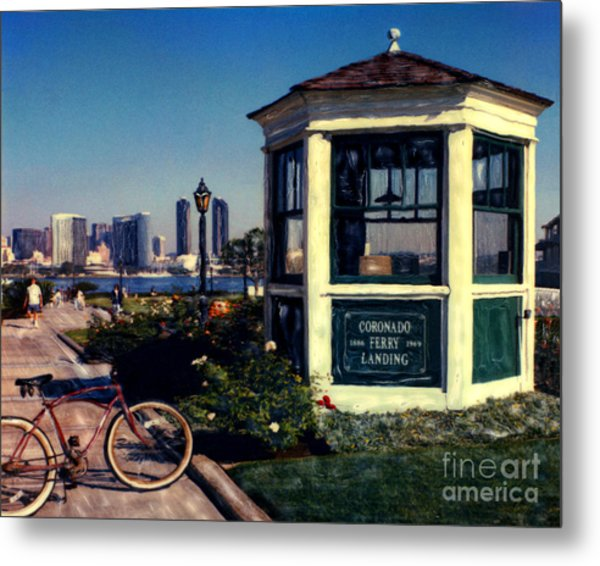1st And Orange - Horizontal Metal Print