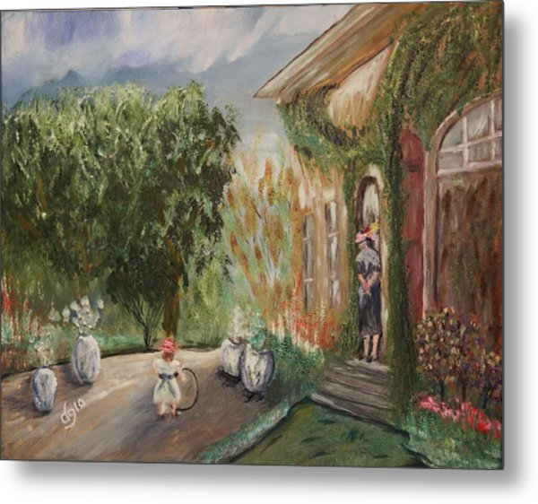 1st Camille And Jean Monet  Metal Print