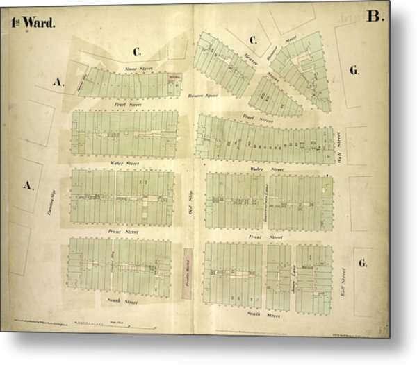1st Ward. Plate B Map Bounded By Stone Street, Beaver Metal Print