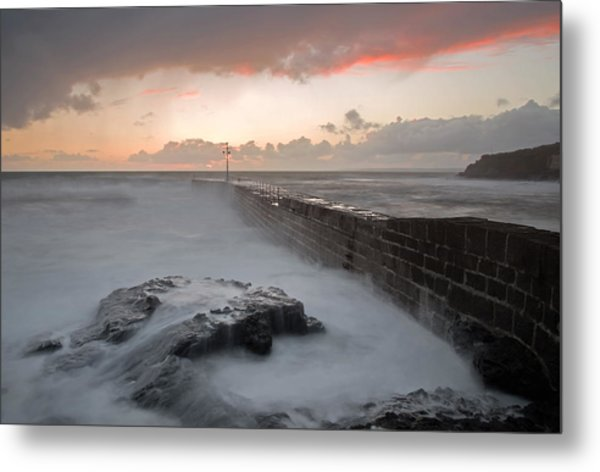 Porthleven In Cornwall Metal Print