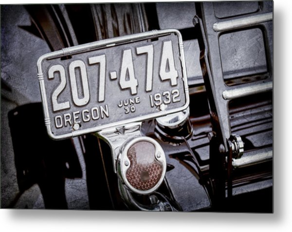 1932 Ford Model 18 Roadster Hotrod Taillight Metal Print