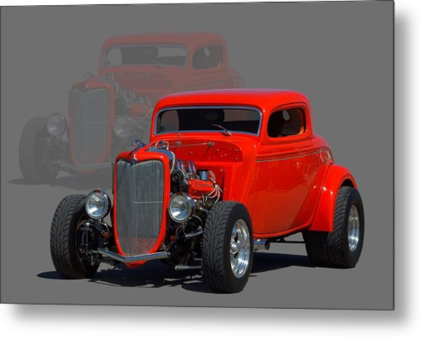 Metal Print featuring the photograph 1934 Ford Coupe Hot Rod by Tim McCullough