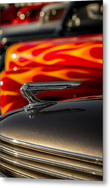 1939 Graham Coupe Hood Ornament Metal Print