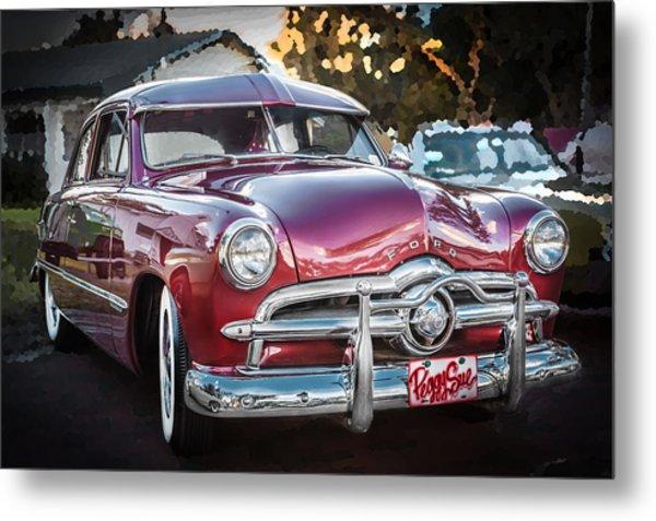 1949 Ford 2 Door Custom  Metal Print