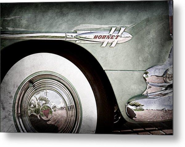 1953 Hudson Hornet Sedan Wheel Emblem Metal Print