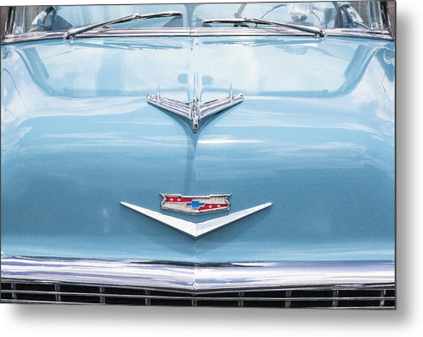 1956 Chevrolet Hood Ornament Metal Print