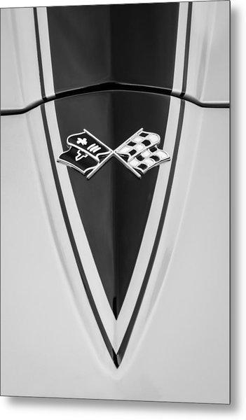 1967 Chevrolet Corvette Coupe Hood Emblem Metal Print