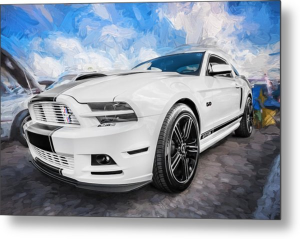2014 Ford Mustang Gt Cs Painted  Metal Print