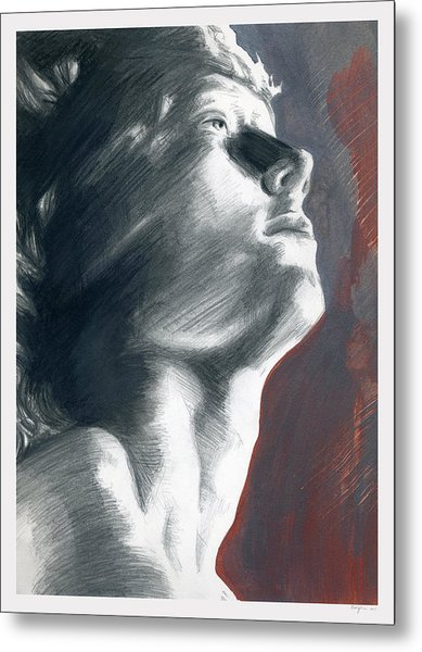 Metal Print featuring the painting A Boy Named Faith by Rene Capone