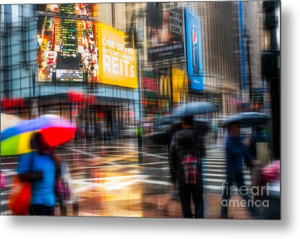 A Rainy Day In New York Metal Print