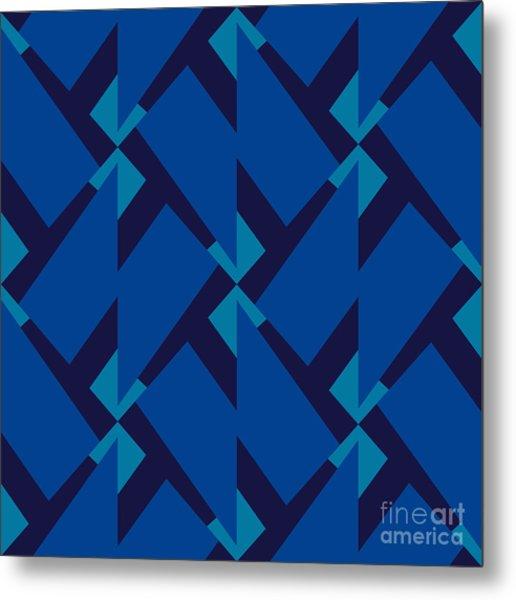 Abstract Retro Pattern. Vector Metal Print
