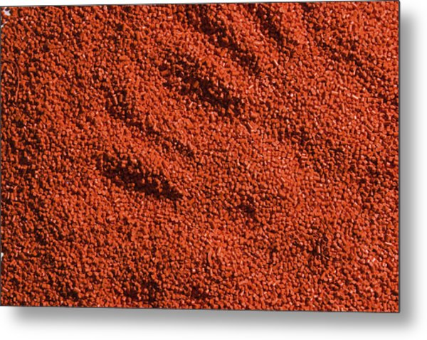 Abstract Texture - Red Metal Print