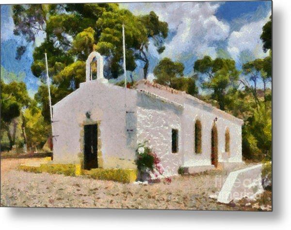 Agia Paraskevi Chapel In Spetses Island Metal Print
