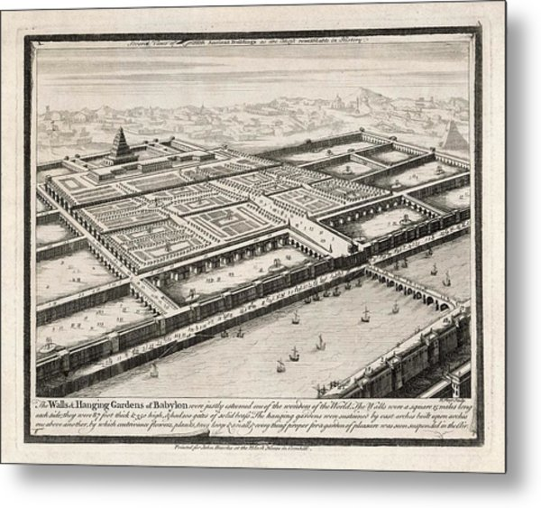 Allegedly Built By  Nebushadnezzar II Metal Print by Mary Evans Picture Library
