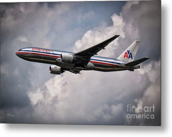 American Airlines Boeing 777 Metal Print