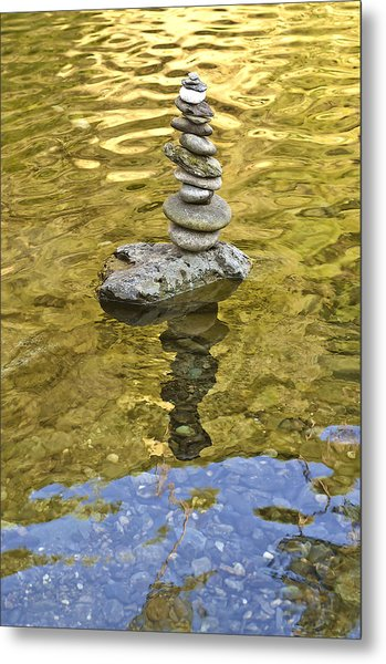 American River Rock Art Metal Print